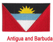Small Antigua and Barbuda Flag Iron On Patch 2.5 x 1.5 inch Free Shipping