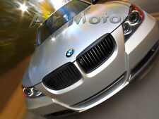 BMW E90 3-Series 4DR Sedan Matte Black Front Grille Grills 05-08 + USB Cable