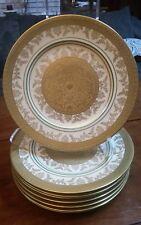 "8  Heavy Gold Encrusted Selb Bavaria Heinrich G E ROY Plates 11"" Stunning Rare"