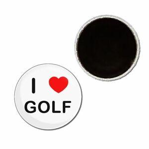 I Love Golf - Button Badge Fridge Magnet - Decoration Fun BadgeBeast