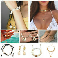 Chic Sea Shell Women Summer Beach Anklet Necklace Beads Bracelet Jewelry Gifts