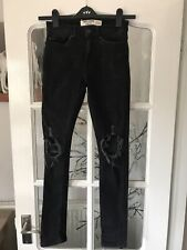 New Look Mens Ripped Skinny Black Jeans . 28 Waist