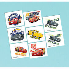 DISNEY CARS 3 TATTOOS BIRTHDAY PARTY SUPPLIES - 8 TATTOOS