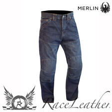 MERLIN ROUTE ONE HUNTSMAN WP ABRASION RESISTANT ARAMID MOTORCYCLE JEANS SHORT
