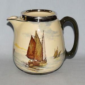 RARE Royal Doulton seriesware lemonade jug EPNS rim SHIPS A D2872