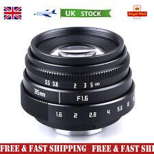 Mini 35mm F1.6 APS-C Television TV Lens/CCTV Lens Fr 16mm C Mount Camera UK SHIP