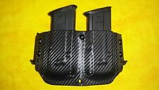 DOUBLE MAG HOLSTER BLACK CARBON FIBER KYDEX FITS SIG 226 P226 W/SPEED EASE CLIP