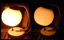2 Vintage Lampes Boule de Table VEB Verre D'Art DDR Chevet