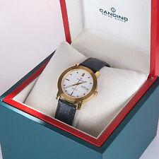 Candino Uhr klassisch Saphier Schweiz analog edelstahl gold datum NEU