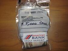 $5,000 US Dollars Cash Folded Bundle Sealed BANK Bag Prop Movie Fake Money $50