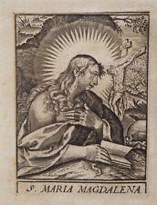 Marie Madeleine, gravure sur cuivre de Karel van Mallery, vers 1616