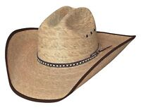 New Bullhide Hats WIDE OPEN 15X Palm Leaf Straw Cowboy Western Hat