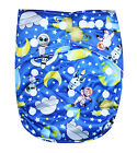 SEE DIAPERS ORGANIC BAMBOO TERRY BABY CLOTH DIAPER WITH 2 TERRY INSERTS