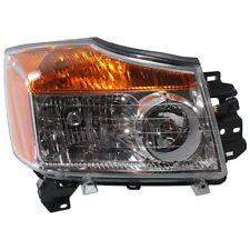 New NI2503168 Passenger Side Headlight for Nissan Titan 2008-2015