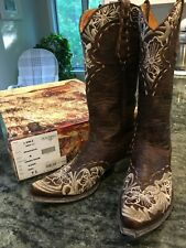 Women's Old Gringo Erin Size 7.5 Boots 13'' (handcrafted, genuine leather)