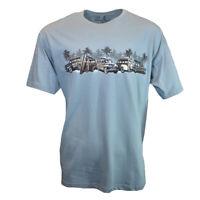 Woody Wagons Division Men's T-Shirt Bahama Beach Vintage NEWPORT BLUE PCH AQUA