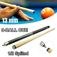 13mm Tip 9 Ball Version Pool Cues Snooker Billiard Hardwood Cue Stick  UK Y