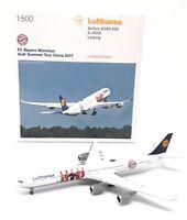 Herpa Wings 1/500 Lufthansa Airbus A340 Bayern Munich Audi Summer Tour China ´17