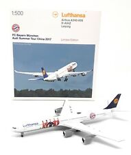Herpa Wings 1/500 Lufthansa Airbus A340 Bayern Munich Audi Summer Tour China ´17