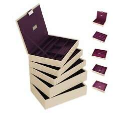 Stackers Classic Size In Cream and Purple Jewellery Box - Make Your Own Set