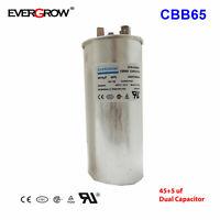 45+5 45/5 uF MFD 370V 440V VAC High Quality Motor Dual Run Capacitor CBB65-R