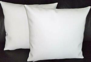 Cushion Cover Pillow Decor Case Home Sofa White Leather Pillow Cover
