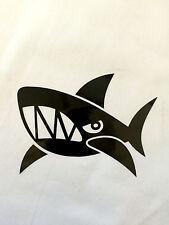 Black Angry Shark Auto Car Truck Vinyl Decor Graphics Art Decal Sticker USA