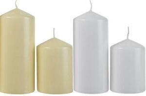 Unscented Pillar Candles Wedding Ball Advent Church Chapel Table Great Gift Idea