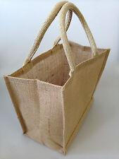 Mini Natural Jute Hessian Bag (27 x 24 x 17cm)