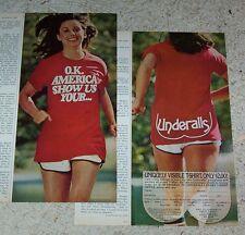 1984 vintage ad - Hanes Hosiery Underalls Pantyhose SEXY GIRL jogging hosiery AD