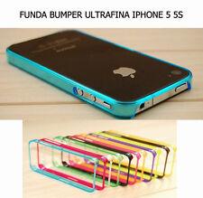 NUEVA FUNDA BUMPER COLORES ULTRFINA Y FLESIBLE PARA IPHONE 5 5S