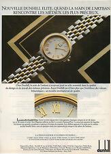 Publicité Advertising 1986  Montre dunhill elite