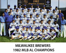 MILWAUKEE BREWERS - 1982 MLB AL CHAMPIONS, 8x10 Color Team Photo