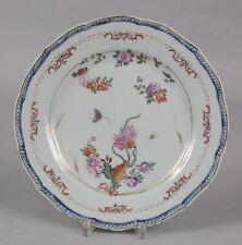 antique original chinese family rose plate circa 1780