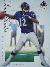 NFL 7 JONY Banks Baltimore Ravens TOPPS 2000 SP Authentic