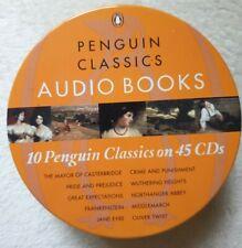Penguin Classics Audio Books 10 Classics On 45 CDs In metal tin case