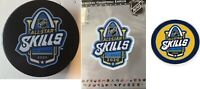 "2020 NHL ""SKILLS"" ALL STAR GAME PATCH / PIN / PUCK SET THREE (3) ST LOUIS BLUES"