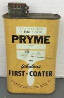 Vintage Pryme Fabulous First-Coater Pierce & Stevens Metal Advertising Can Canco