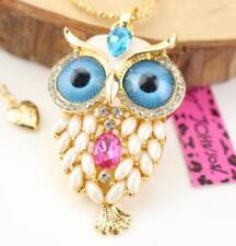 Fashion Chain Betsey Johnson Women Pendant Rhinestone owl Hot Charm Necklaces