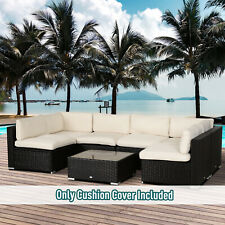 Garden Patio Rattan Sofa Set Cushion Polyester Cover Replacement- No Cushion