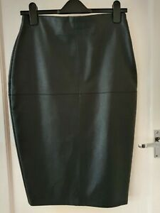 River Island Faux Leather Pencil Skirt 10