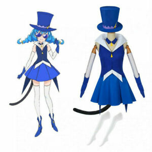 Pretty Cure Precure Star Twinkle Blue Cat Yuni Cosplay Costume Adult Costumes&