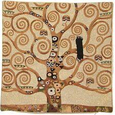 "18"" GUSTAV KLIMT TREE OF LIFE BELGIAN TAPESTRY CUSHION COVER + LUREX/GOLD THREAD"