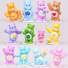 12PCS Set Rainbow Bear With Base PVC Figure 2″ Carebears Doll Toy Gift New