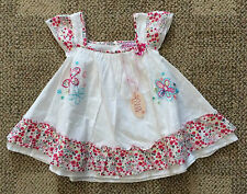 Infant Baby Girls Size 6-12 Months Chloe Louise 100% Cotton Summer Dress White