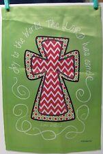 """Small Garden Flag - 12.5 x 18"""" - Religious Theme - Joy to the World - Luke (190)"""