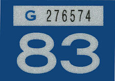 1983 WASHINGTON Vinyl Sticker Decal -CAR or TRUCK License Plate Reg. TAB TAG-New