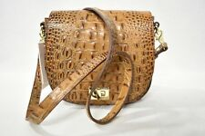 NWT Brahmin Mini Sonny Leather Shoulder/Crossbody Bag Toasted Almond Melbourne