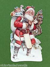 Victorian Christmas Ornament Old Fashioned Santa w/Bag of Toys