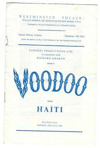 1960 Haitian Voodoo Ritual on stage London theatre programme Mathilda Beauvoir